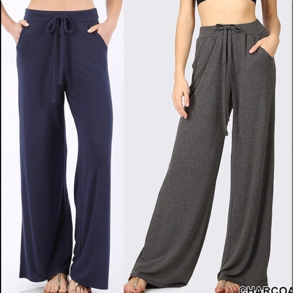 Pants - Pants trouser wide leg comfy soft loungers